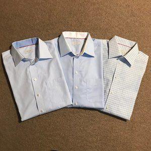 Lot/Bundle of 3 Men's Eton Classic Dress Shirts
